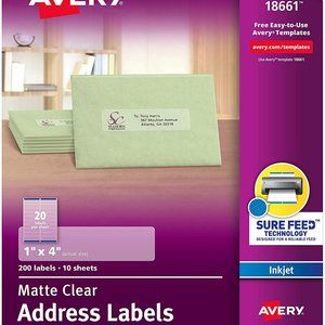 Avery Clear Address Labels 18661